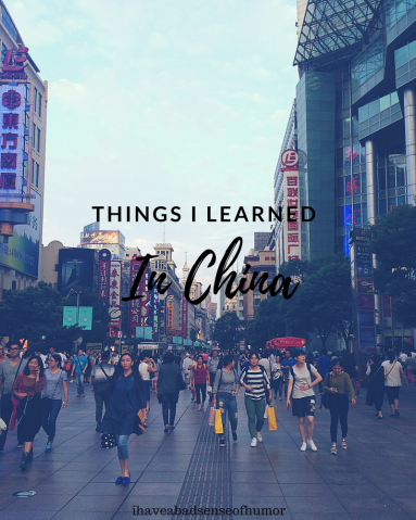 Things I learned in China